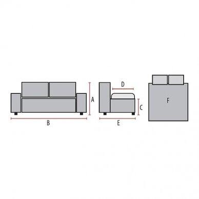 Fotelis SP VELVET su miegama funkcija 5