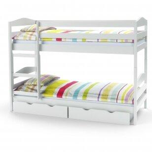 Dviaukštė lova SAM balta